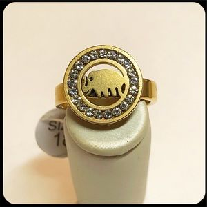 Elephant Spiritual Ring. Symbol of good luck.